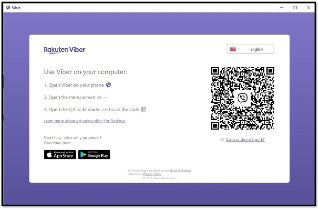Скануйте QR-код, щоб використовувати Viber на комп'ютері