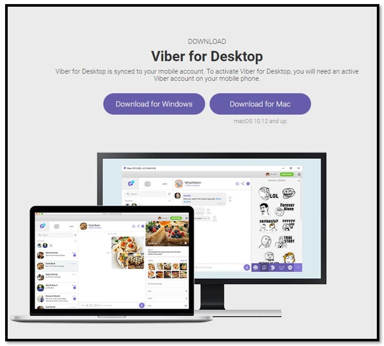 Download Viber for desktop