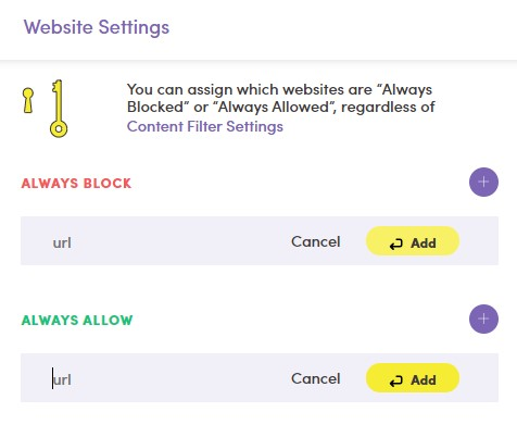 Block specific URLs with NetNanny