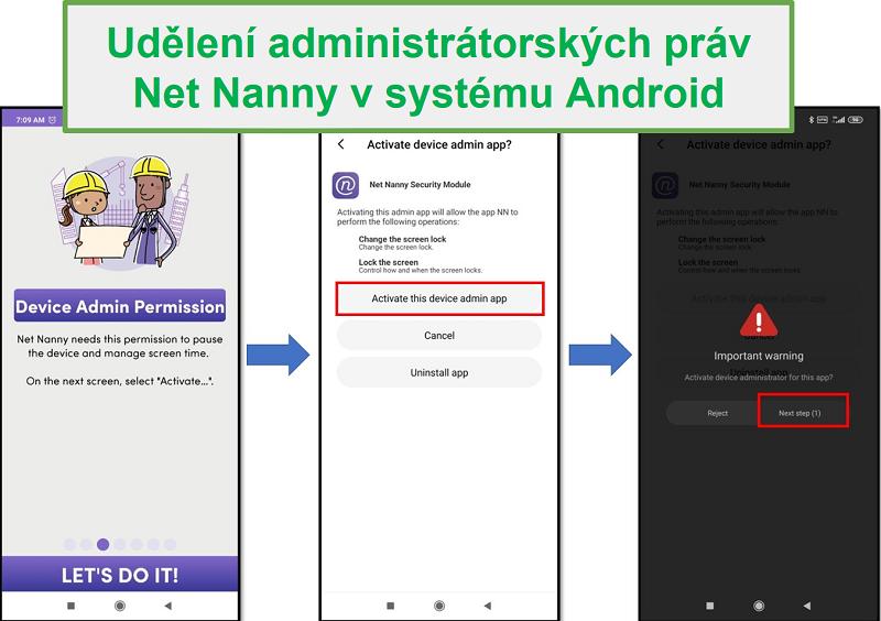 Práva správce Nan Nanny