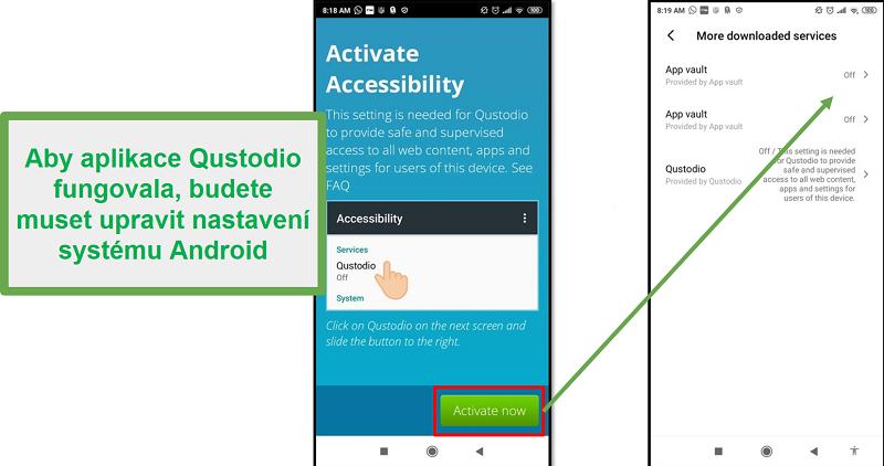 Nastavení systému Qustodio pro Android