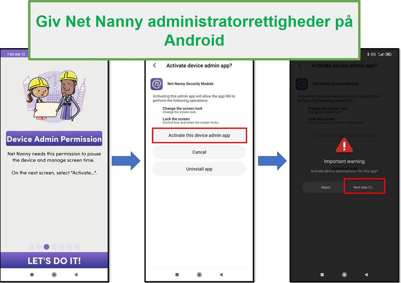 Net Nanny Admin rettigheder