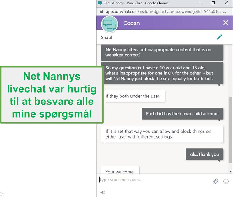 Net Nanny kundeservice