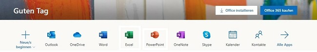 Alle Office 365-Apps