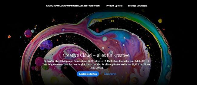 So erhalten Sie ein kostenloses Creative Cloud-Konto