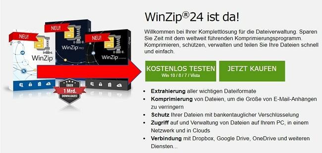 WinZip-Download-Seite
