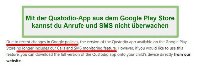 Qustodio Google Play-Richtlinie
