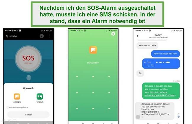 Qustodio SOS Alarm