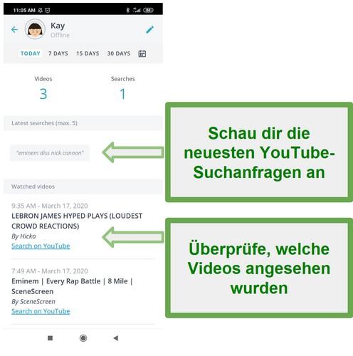 Qustodio Youtube Überwachung