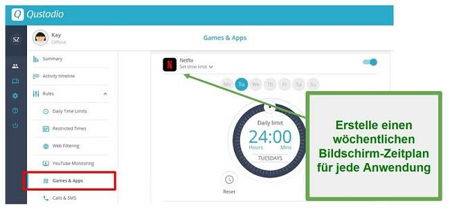 Qustodio setzt Grenzen für Apps