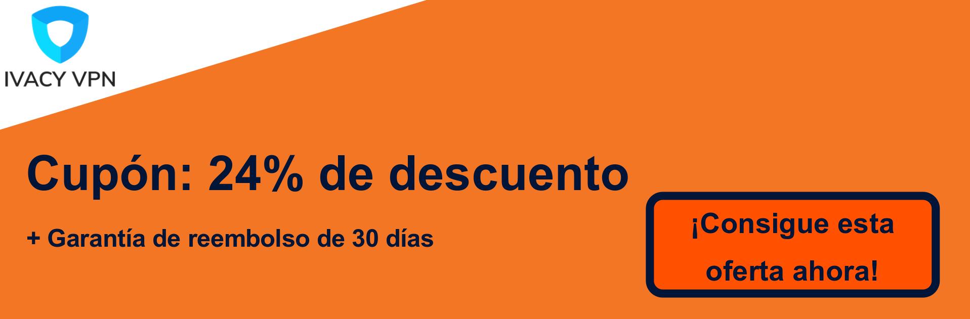 Ivacy VPN cupón banner: 24% de descuento