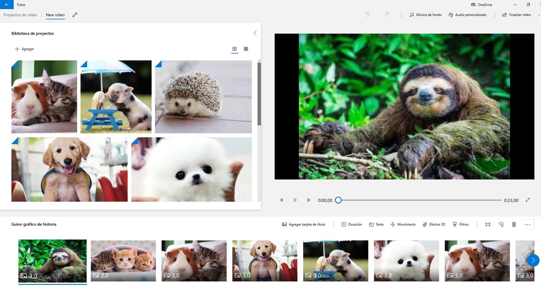 Crea tu primer video con Video Editor