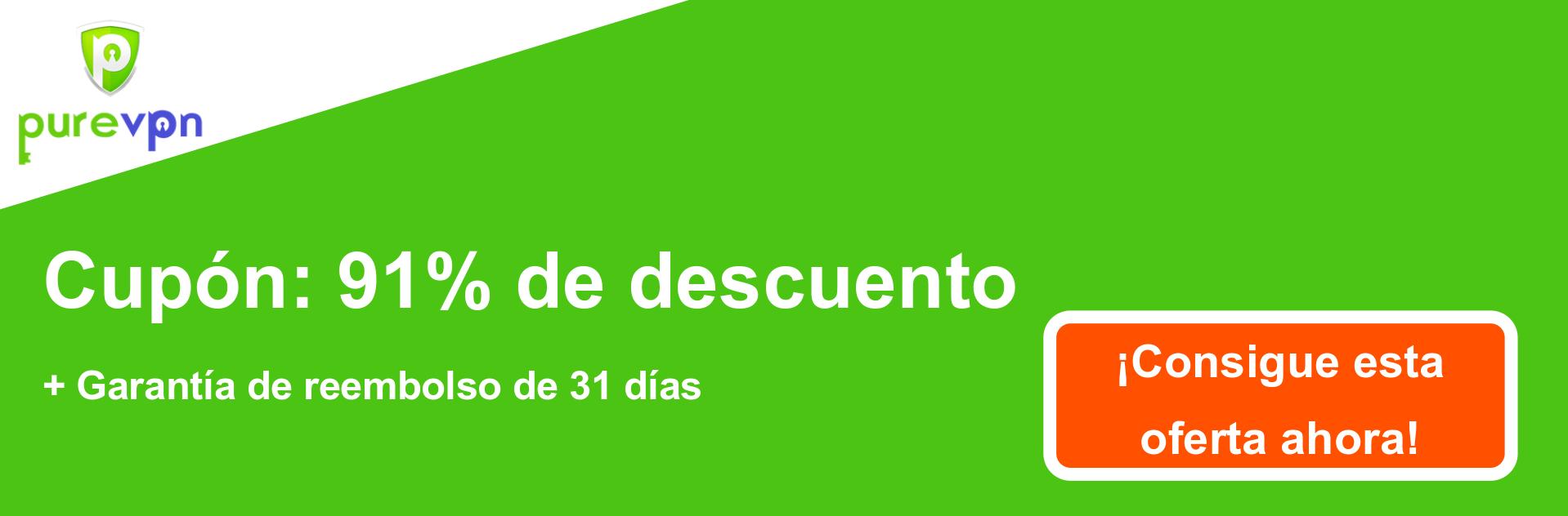 Banner de cupón PureVPN: 91% de descuento