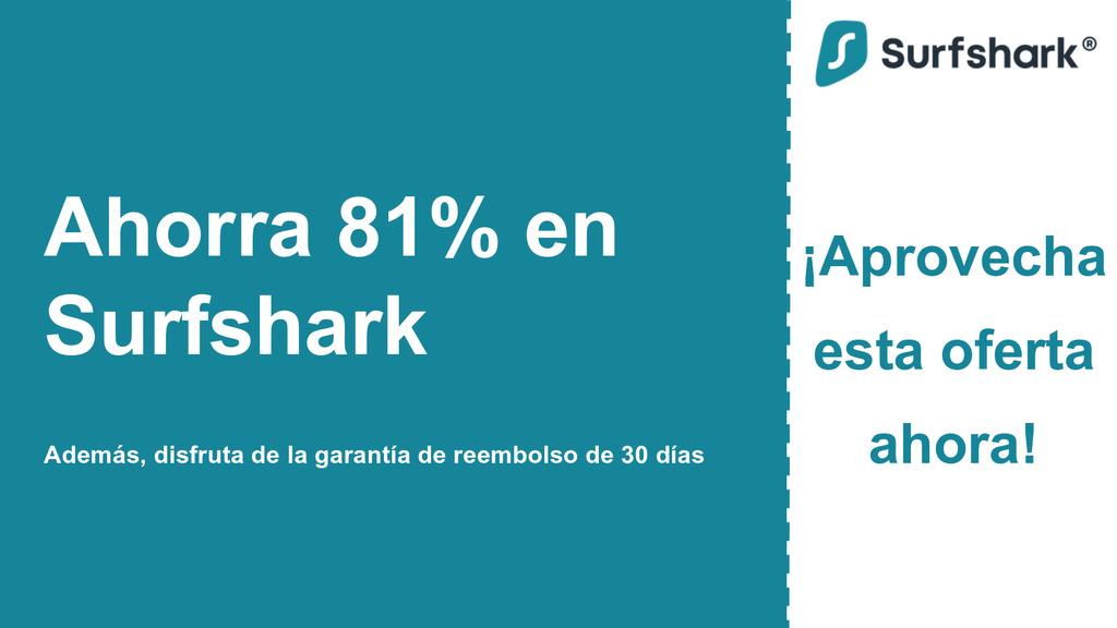 Gráfico del banner del cupón principal de Surfshark VPN que muestra $ 2.49 por mes