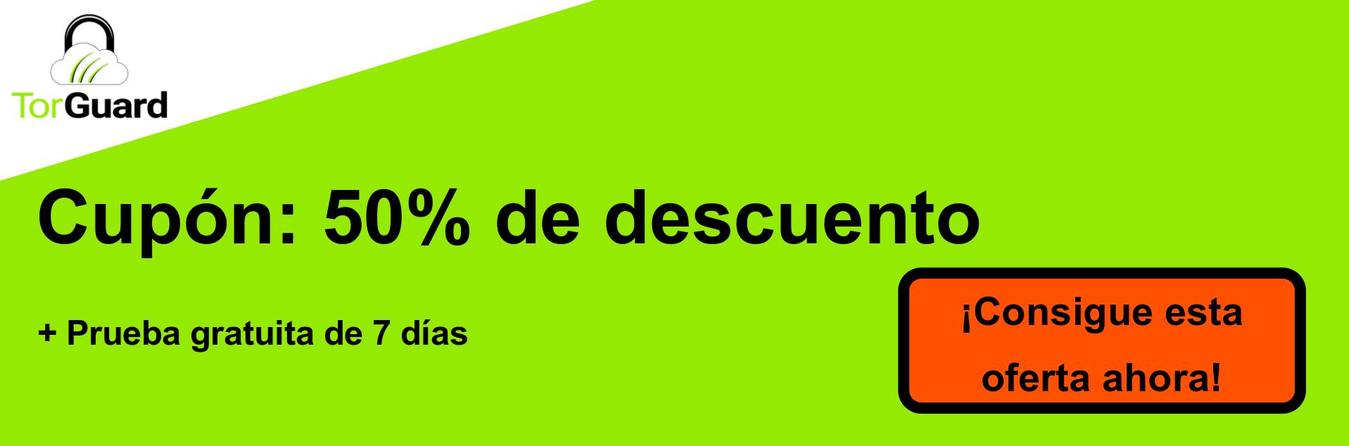 Banner de cupón TorGuard VPN: 50% de descuento