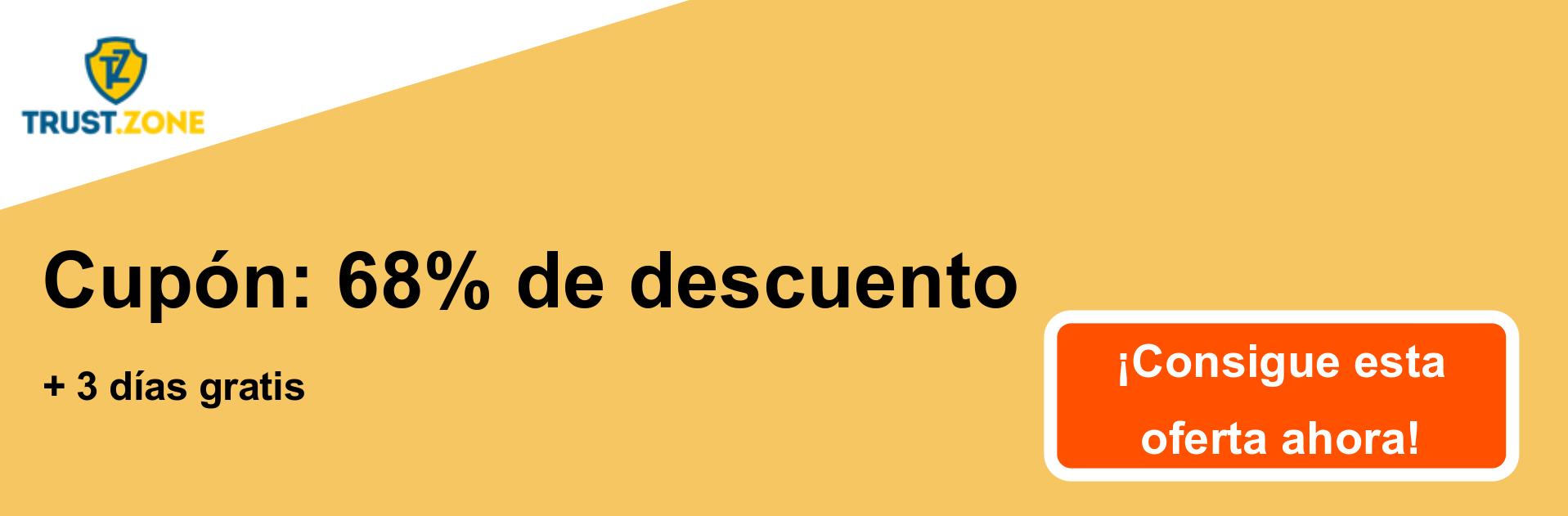 Banner de cupón Trust.Zone VPN: 68% de descuento