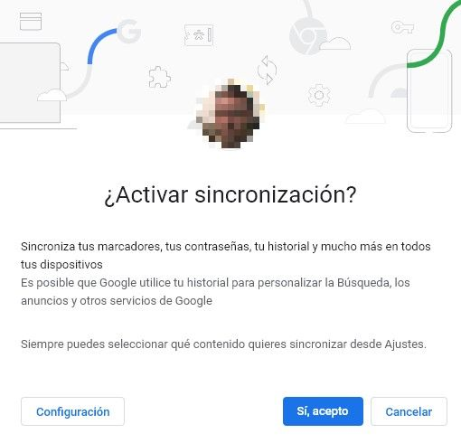 Activar Google Chrome Sync