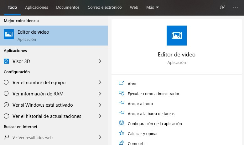 Editor de video abierto