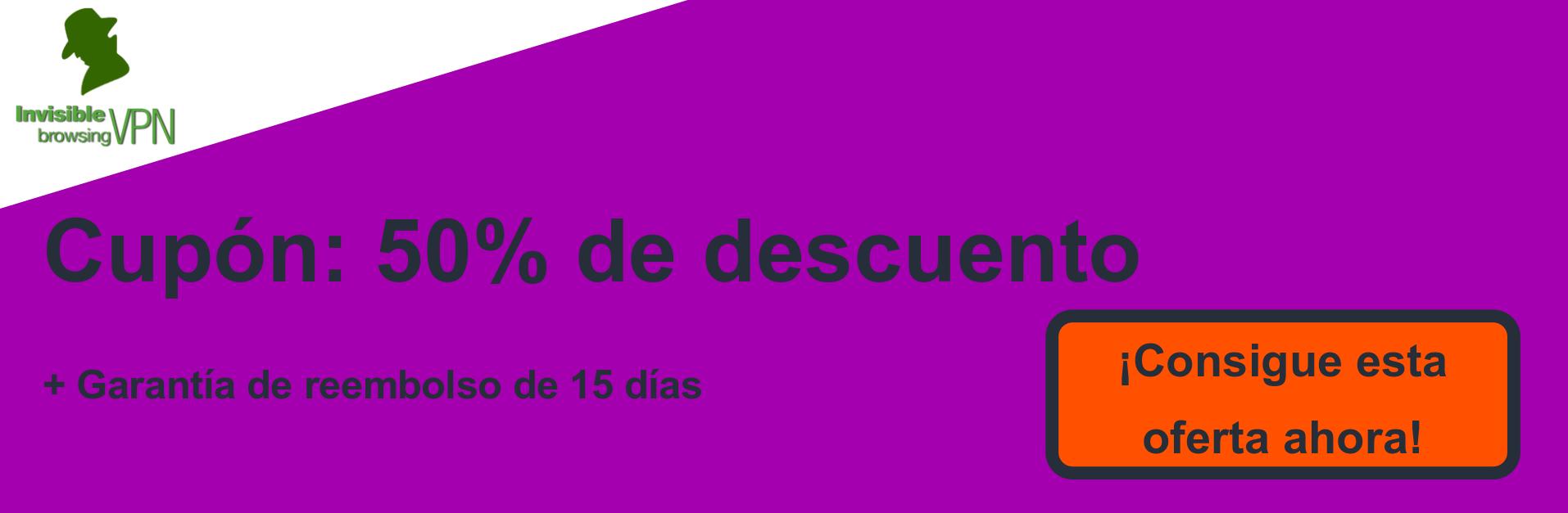Banner de cupón ibVPN: 50% de descuento