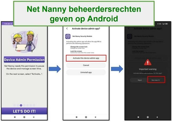 Derechos de administrador de Net Nanny