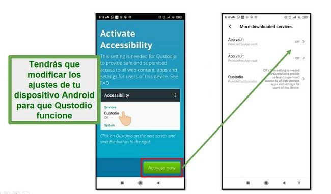 Configuración de Qustodio Android
