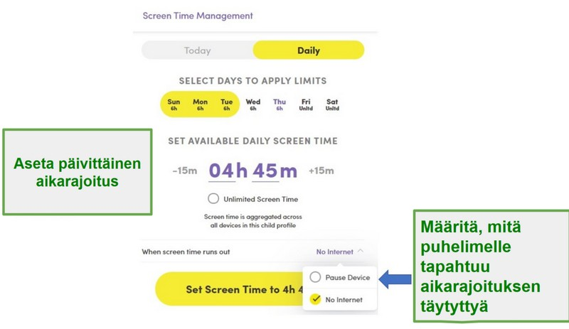 Screen Time Sovellus
