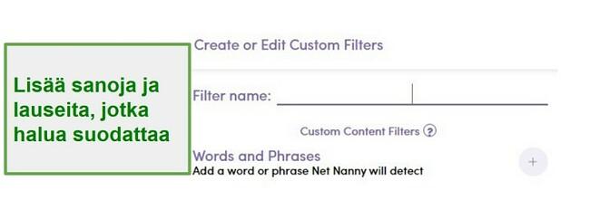 Net Nanny -suodatin