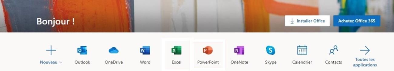 Toutes les applications Office 365