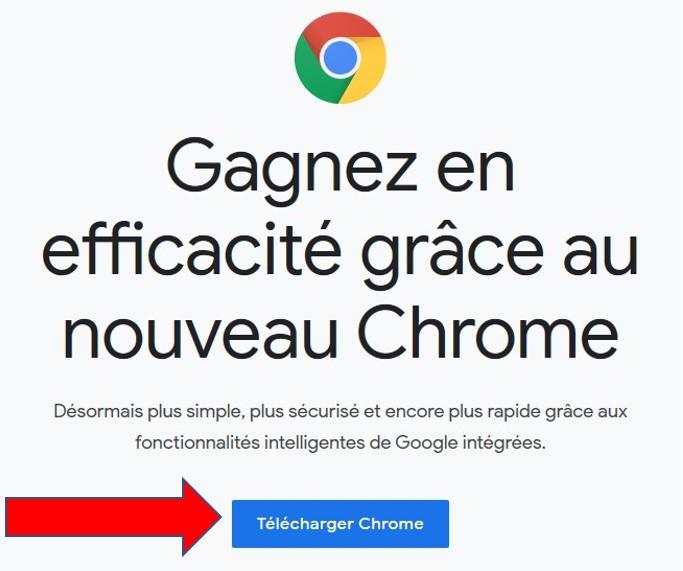 Page de téléchargement de Google Chrome