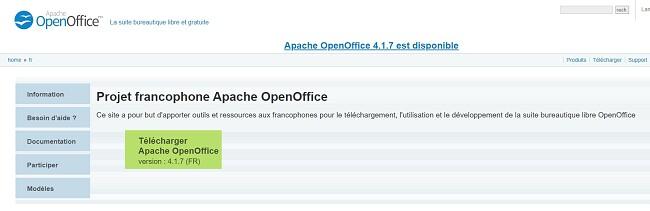 Télécharger OpenOffice - Installation complète Télécharger