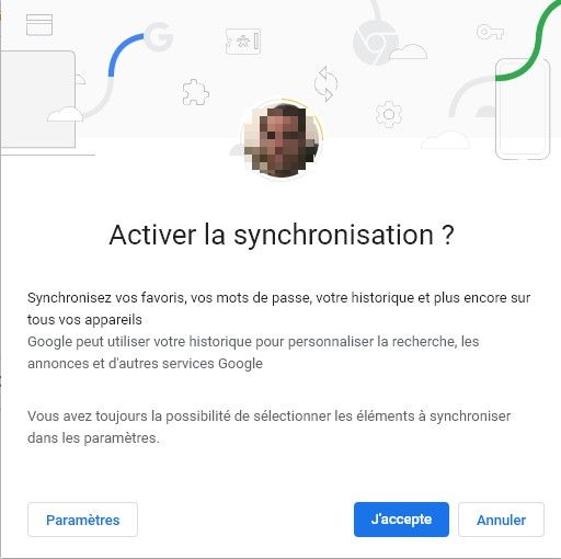 Activez Google Chrome Sync