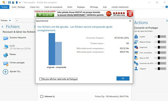 WinZip Compression de fichiers