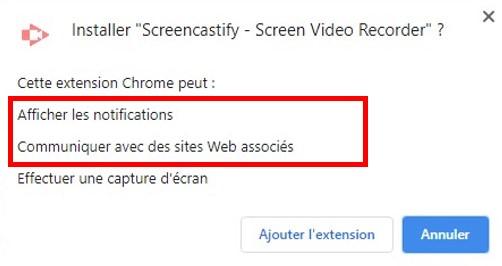 Approbation des autorisations pour les extensions Google Chrome