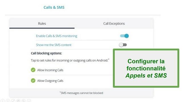 Surveillance des appels et des SMS Qustodio