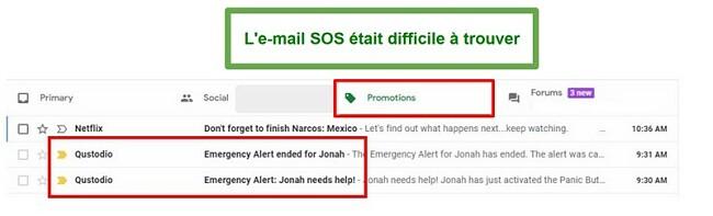 Courriels Qustodio SOS