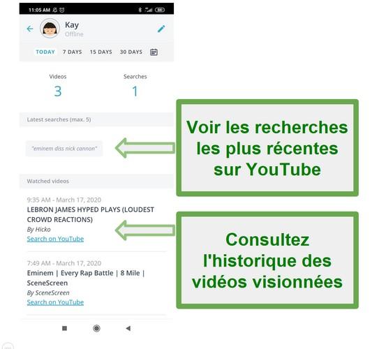 Surveillance Youtube Qustodio