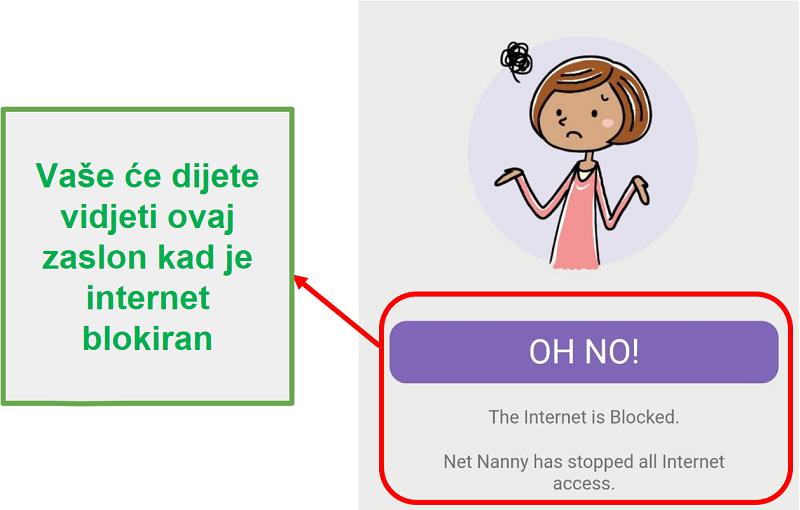 Čista dadilja blokira internet