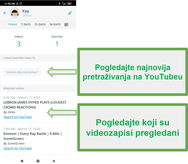 Qustodio Youtube nadzor