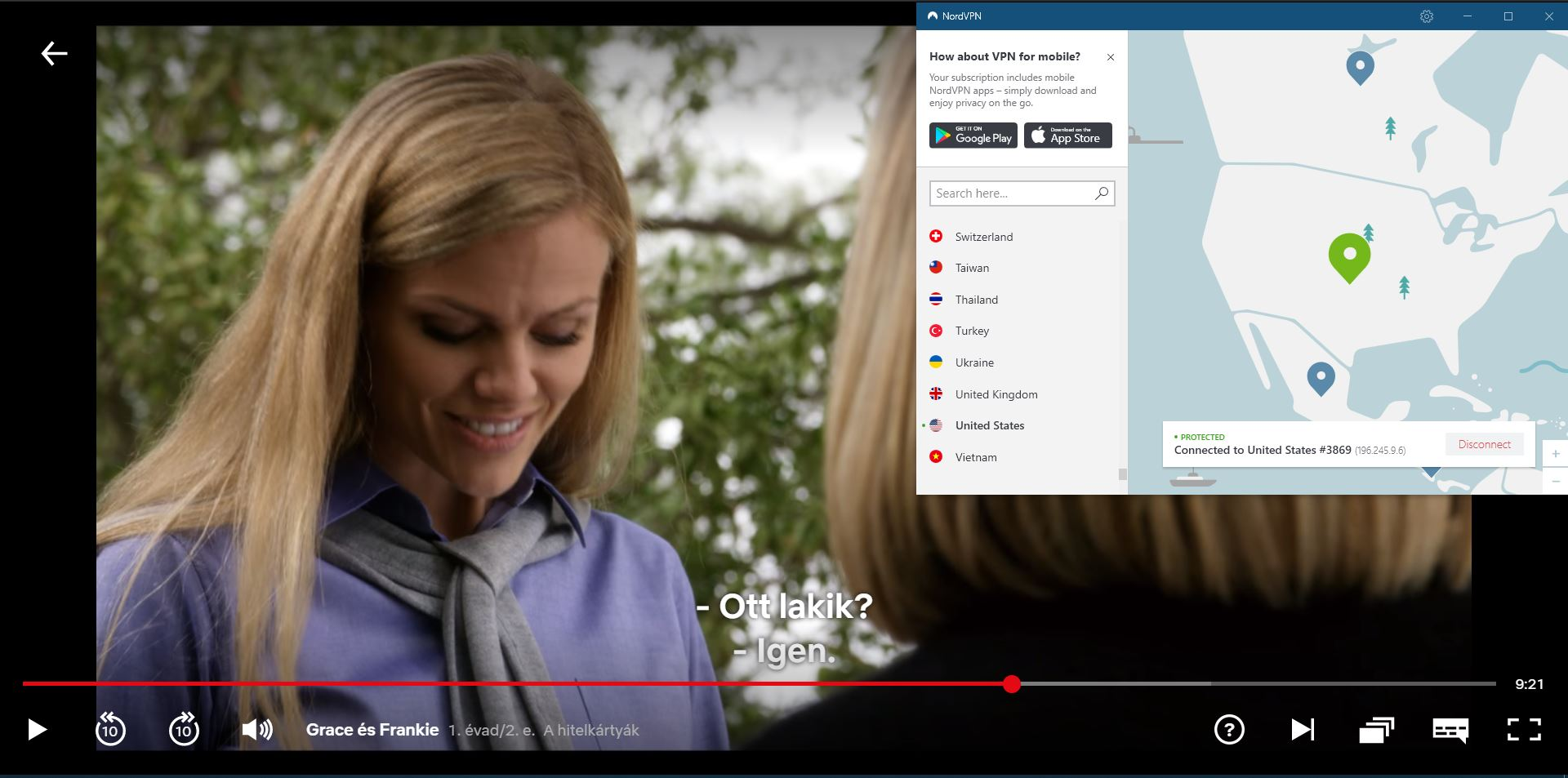 NordVPN works with Netflix US Grace and Frankie