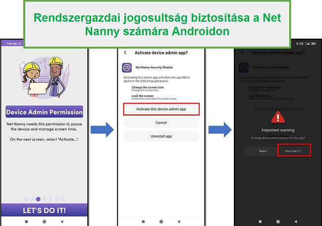 Net Nanny adminisztrátori jogok