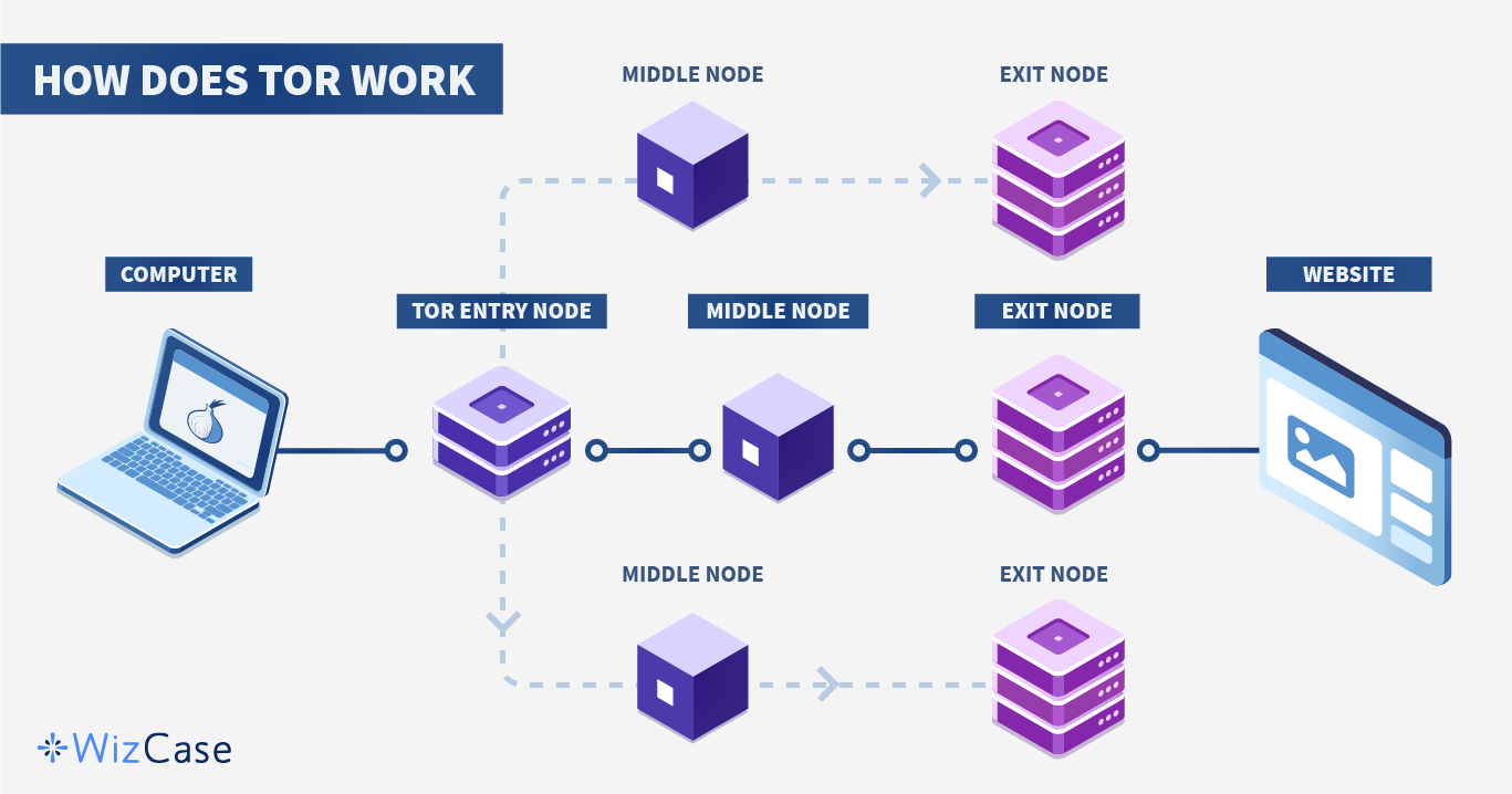 Infographic of how Tor works
