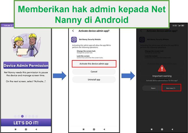 Hak Admin Net Nanny