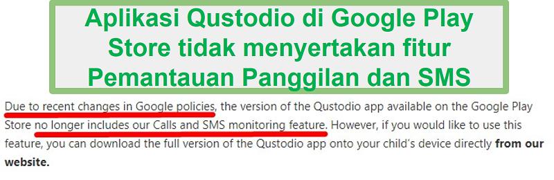 Kebijakan Google Play Qustodio
