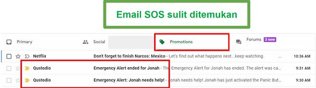 Email Qustodio SOS