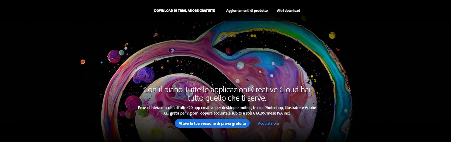Come ottenere un account Creative Cloud gratuito