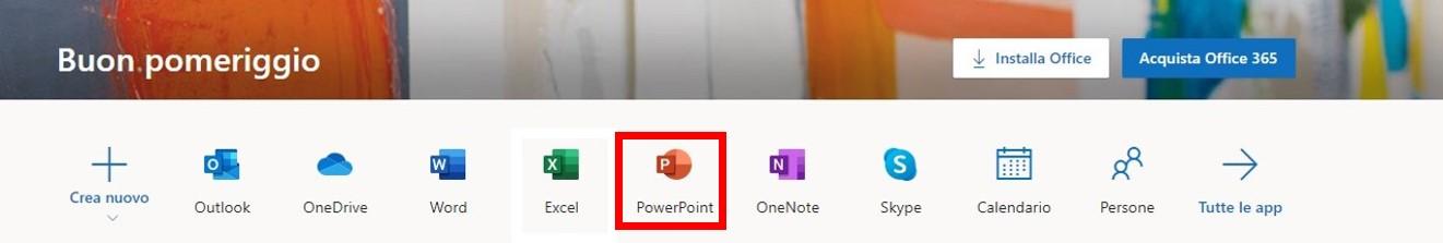 Basato su browser PowerPoint