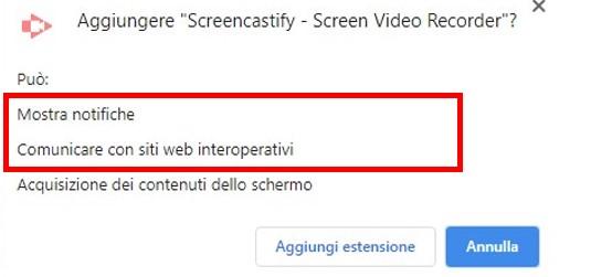 Approvazione delle autorizzazioni per le estensioni di Google Chrome