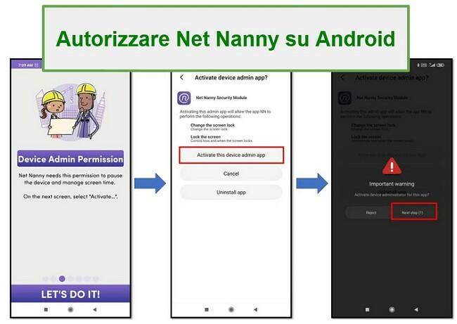 Diritti di amministratore di Net Nanny