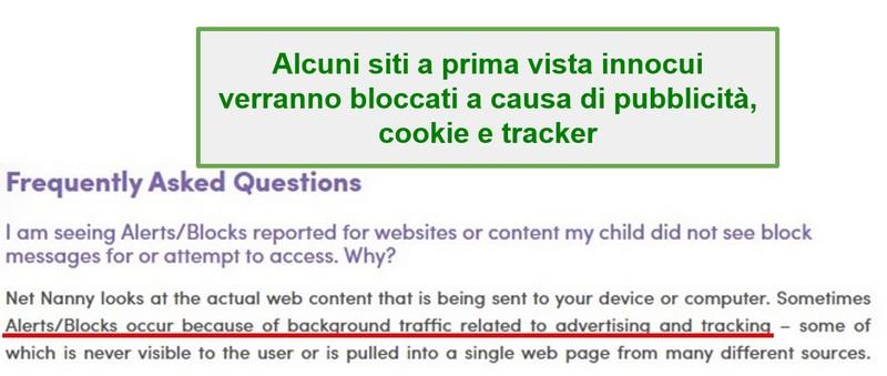 Domande frequenti su Net Nanny