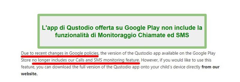 Politica di Qustodio Google Play